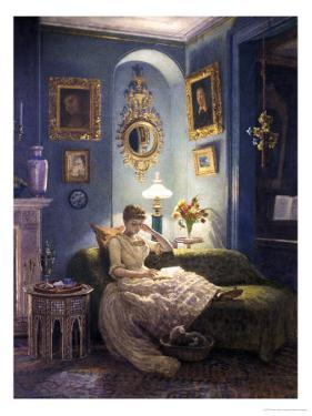 Evening at Home by Edward John Poynter