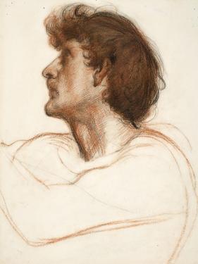 Head of a Man in Profile by Edward John Poynter