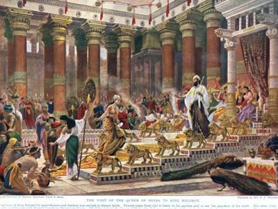 The Visit of the Queen of Sheba to King Solomon, Illustration from 'Hutchinson's History of the… by Edward John Poynter