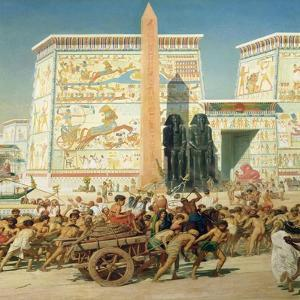 Wagon and Pylon, Detail from Israel in Egypt, 1867 by Edward John Poynter