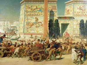 Wagons, Detail from Israel in Egypt, 1867 by Edward John Poynter
