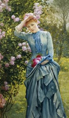 In the Rose Garden by Edward Killingworth Johnson