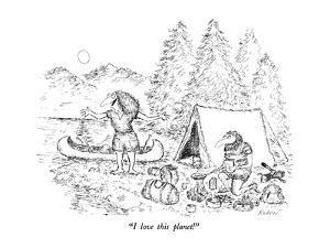 """I love this planet!"" - New Yorker Cartoon by Edward Koren"