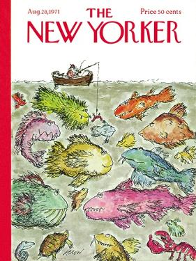 The New Yorker Cover - August 28, 1971 by Edward Koren