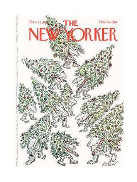 The New Yorker Cover - December 12, 1977 by Edward Koren