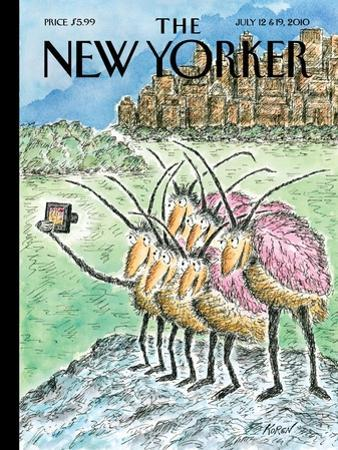 The New Yorker Cover - July 12, 2010 by Edward Koren