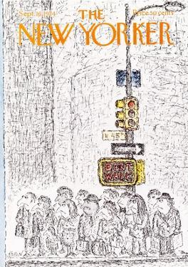 The New Yorker Cover - September 16, 1974 by Edward Koren