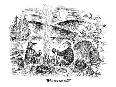 """Who can we call?"" - New Yorker Cartoon by Edward Koren"