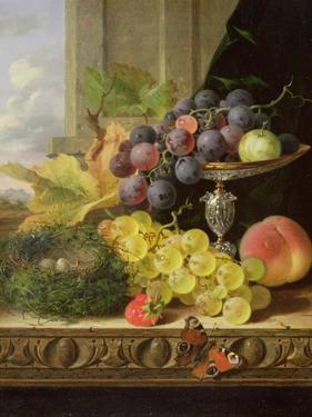 Still Life of Fruit, a Tazza and a Bird's Nest by Edward Ladell