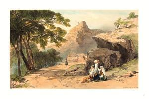 Cervara, Colored Lithograph by Edward Lear