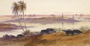 El Hon, Egypt, 1884 by Edward Lear