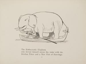 Elephant in Row Boat From a Collection Of Poems and Songs by Edward Lear by Edward Lear