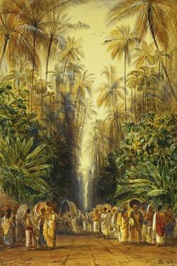 Figures on a Road Near Galle, Ceylon by Edward Lear