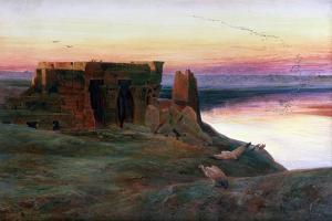 Kom Ombo Temple, Egypt, 1856 by Edward Lear