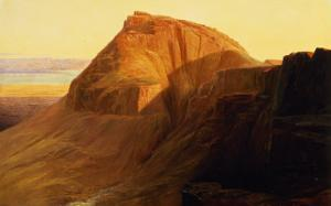 Masada or Sebbeh on the Dead Sea, 1858 by Edward Lear
