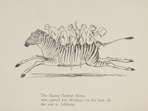 Monkeys Riding a Zebra, Nonsense Botany Animals and Other Poems Written and Drawn by Edward Lear by Edward Lear