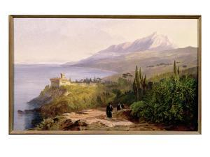 Mount Athos and the Monastery of Stavroniketes, 1857 by Edward Lear