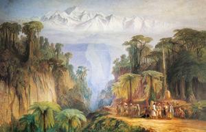Mount Kanchenjunga from Darjeeling by Edward Lear