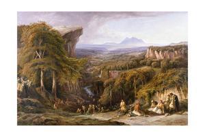 Mount Tomohrit, Albania by Edward Lear