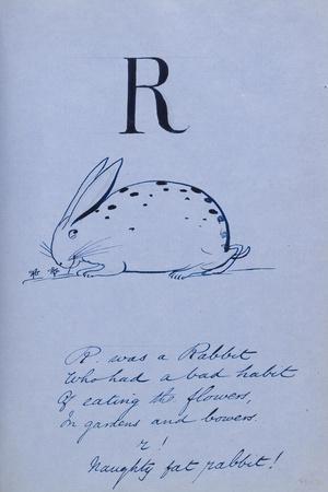 Nonsense Alphabet - R, 1860
