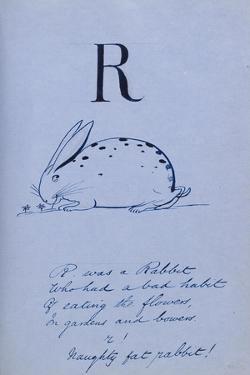 Nonsense Alphabet - R, 1860 by Edward Lear