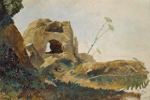 Study of Rocks and Foliage, Agrigento (Girgenti), Sicily, 1847 by Edward Lear