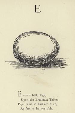 The Letter E by Edward Lear