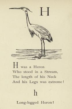 The Letter H by Edward Lear