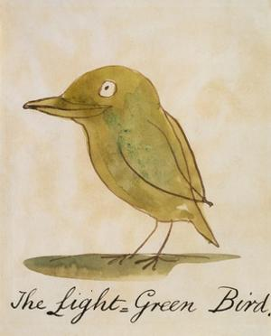 The Light Green Bird by Edward Lear