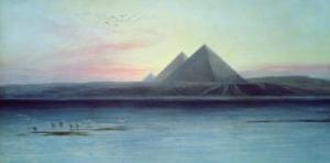 The Pyramids of Giza by Edward Lear