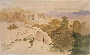 The Temple of Apollo at Bassae by Edward Lear