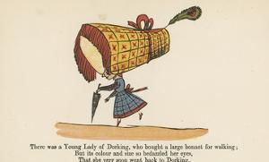 There Was a Young Lady of Dorking, Who Bought a Large Bonnet for Walking by Edward Lear