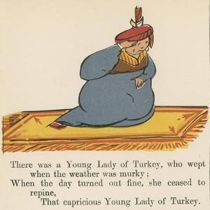 There Was a Young Lady of Turkey, Who Wept When the Weather Was Murky by Edward Lear