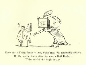 There Was a Young Person of Ayr, Whose Head Was Remarkably Square by Edward Lear