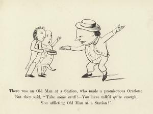 There Was an Old Man at a Station, Who Made a Promiscuous Oration by Edward Lear