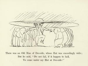 There Was an Old Man of Dee-Side, Whose Hat Was Exceedingly Wide by Edward Lear