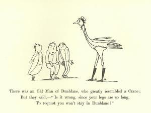 There Was an Old Man of Dunblane, Who Greatly Resembled a Crane by Edward Lear