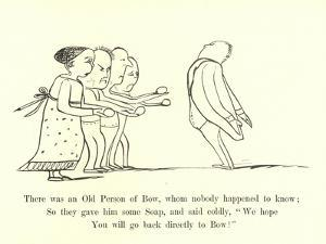 There Was an Old Person of Bow, Whom Nobody Happened to Know by Edward Lear
