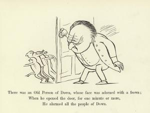 There Was an Old Person of Down, Whose Face Was Adorned with a Frown by Edward Lear
