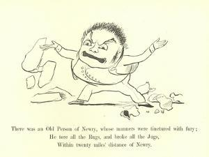 There Was an Old Person of Newry, Whose Manners Were Tinctured with Fury by Edward Lear