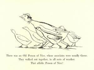 There Was an Old Person of Nice, Whose Associates Were Usually Geese by Edward Lear