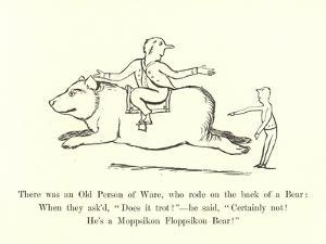 There Was an Old Person of Ware, Who Rode on the Back of a Bear by Edward Lear