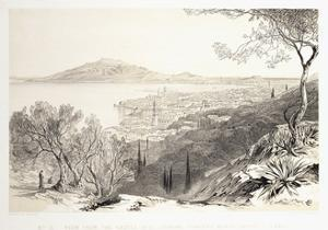 View from the Castle Hill, Looking Towards Monte Skopo, Zante, 1863 by Edward Lear