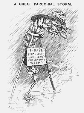 A Great Parochial Storm, 1879 by Edward Linley Sambourne