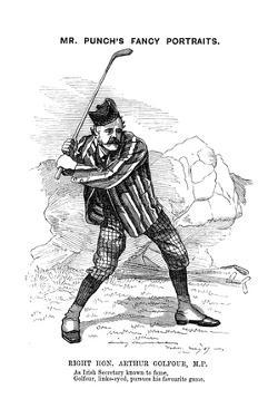 Arthur James Balfour (1848-193), Scottish-Born British Statesman and Philosopher, 1889 by Edward Linley Sambourne