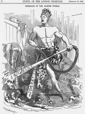 Hercules in the Augean Stable, 1888 by Edward Linley Sambourne