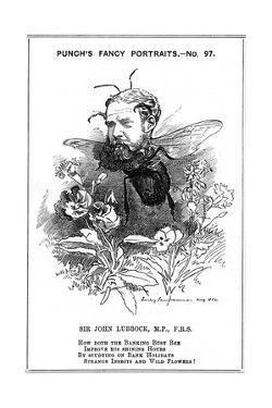 John Lubbock, First Baron Avebury, English Banker, Archaeologist, Naturalist and Politician, 1882 by Edward Linley Sambourne