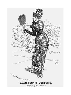 Lawn-Tennis Costume, 1879 by Edward Linley Sambourne