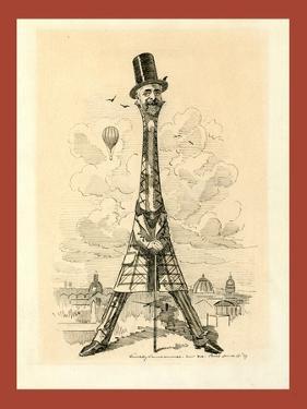 M. Eiffel, Our Artist's Latest Tour De Force, June 29, 1889 by Edward Linley Sambourne