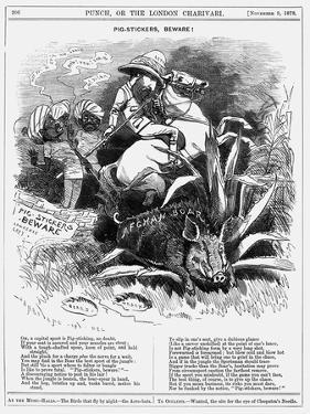 Pig-Stickers, Beware!, 1878 by Edward Linley Sambourne